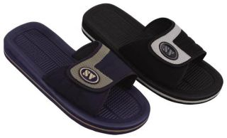 Men's Slip on Slide Sport Sandals Adjustable Velcro Strap Slippers Shoes 5203