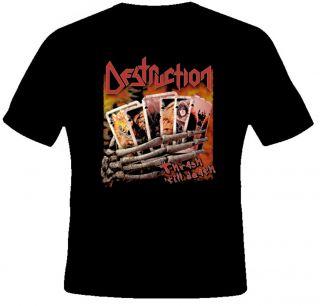 Destruction Thrash Till Death Heavy Metal Rock Music T Shirt
