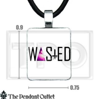 Wasted Faded Dope Galaxy Triangle Hipster Illuminati Comme Des Fuckdown Necklace
