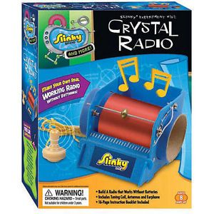 """Educational Science Crystal Radio Kit for """"Kids"""" Ages 8 to 10 Years Old Up"""
