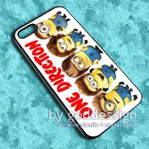 One Direction Minion 1D Minions Despicable Me Cool Cute iPhone 5 Case Cover FA11