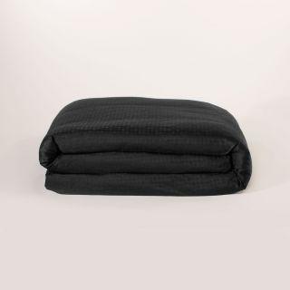 Edmond Frette Lyford Jacquard 100 Egyptian Cotton Queen Duvet Cover Black
