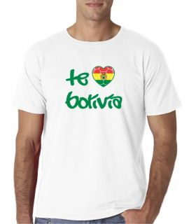 Mens TE AMO Bolivia Futbol Soccer Football T Shirt Tee Copa 2011