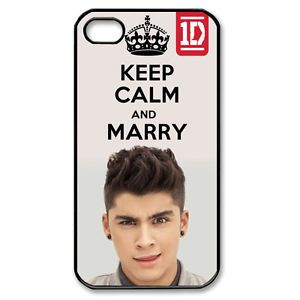Keep Calm and Marry Zayn Malik One Direction 1D iPhone Case 4 4S Hard Cover