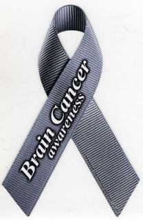 Brain Cancer Awareness Ribbon Car Magnet