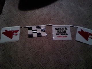 Wolfs Head Oil Racing String Banner 20 ft Long