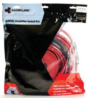 New Maxxlink VCAK4V14 4 GA 1000W RMS Car Audio 4 CH Amplifier Amp Kit 4 Gauge