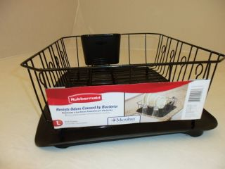 Rubbermaid Space Saver Dish Drainer Rack White 8354 00 New