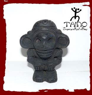Taino Indian Behique Witch Doctor Ceramic Fire Figure
