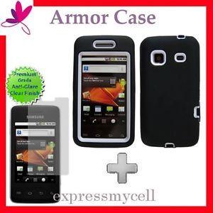 Screen Blk Wht Impact Armor Case Cover Straight Talk Samsung Galaxy Precedent