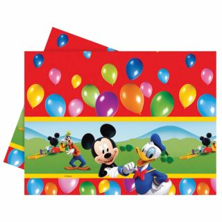 120cmx180cm Disney Mickey Mouse Clubhouse Balloons Plastic Table Cover