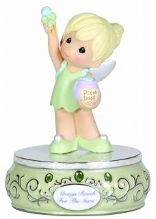 Precious Moments Disney Tinkerbell Figurine Musical Gift Music Box Collectible