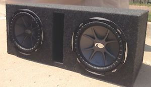 Kicker 12 inch cvr Subwoofers with Memphis 1000 Watt Amp