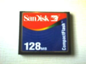 1999 SanDisk San Disk Compact Flash 128MB Memory Card SDCFB 128MB Used Works