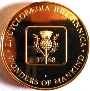 Franklin Mint Gold Plated Silver Coin