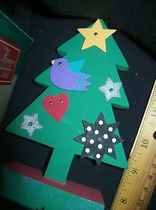 Hallmark Miniature Metal Die Cut Ornament Decor Christmas Tree Stocking Hanger