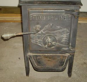 Vintage Timberline Cast Iron Wood Cook Heating Stove Local Pick Up Only
