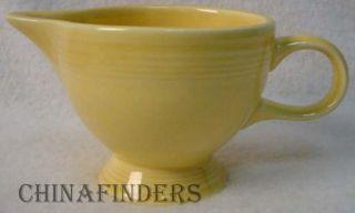 Homer Laughlin China Fiesta Contemporary Yellow Creamer Cream Pitcher Jug