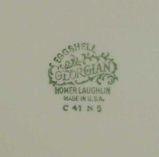 Homer Laughlin Eggshell Georgian English Regency G3357 White Dinner Plate