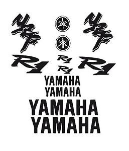 Bike Chopper Gas Tank Flames Tribal Vinyl Decal Sticker Yamaha YZF R1 01