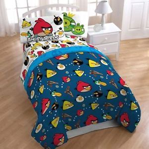 Angry Birds Kids Room Comfortable Twin Bed Bedding Sheet Set