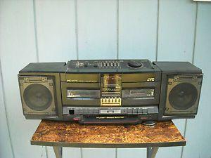 Vintage JVC PC V77 Boombox Detachable Speakers Portable Stereo Cassette Works