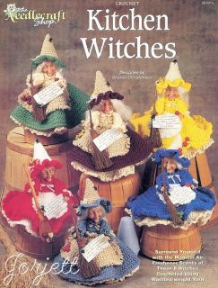 Kitchen Witches Crochet Pattern Booklet Witch Doll RARE New
