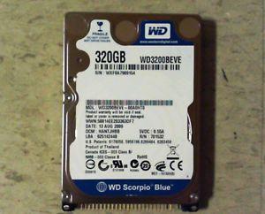 "Western Digital Scorpio Blue 2 5"" WD3200BEVE IDE PATA 320GB Laptop Hard Drive"