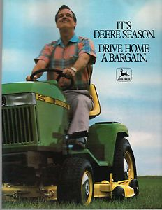 1989 John Deere Lawn Garden Tractor Riding Mower 240 420 SX75 STX38 Brochure