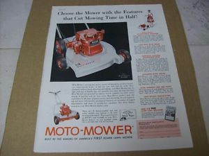 1957 Moto Mower Power Lawn Mower Advertisement Vintage Ad