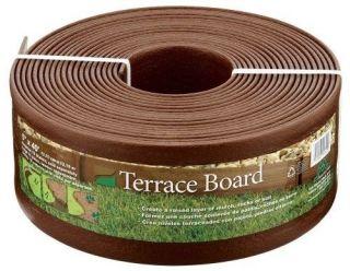 "Master Mark Plastics Terrace Board 5""x 40ft Landscape Lawn Garden Edging New"
