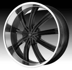 22 inch KMC Black Wheels Rims Blank 22x9 5 15 Special Drilled 5 6 Lug