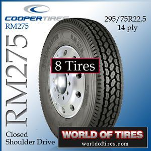 8 Tires Roadmaster RM275 295 75R22 5 Semi Truck Tires 295 75 22 5 22 5 Tires