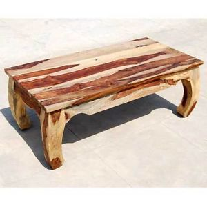 Large Rustic Solid Wood Unique Sofa Cocktail Coffee Table Living Room Furniture