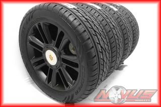 "New 22"" Cadillac Escalade Platinum Black Wheels Tires Chevy Tahoe GMC Denali 20"