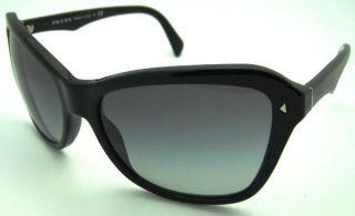 New Prada SPR PR 24N 24 N 1AB3M1 Black Sunglasses