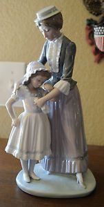"Lladro Mother Daughter Figurine 5142 ""Solace"" Retired 1991"