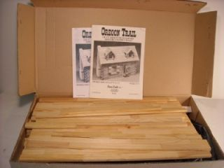 Dura Craft Dollhouse Oregon Trail Log Cabin Kit