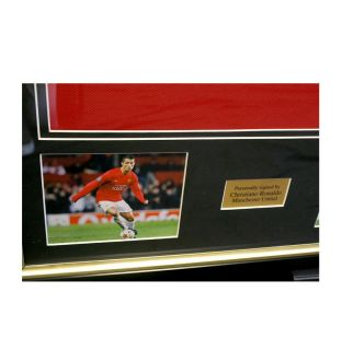 Wayne Rooney and Cristiano Ronaldo Signed Manchester United Shirts Dual Framed