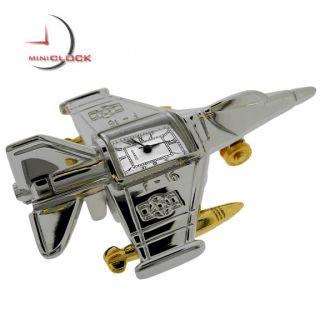 Miniature Clock Two Tone F16 Fighter Jet