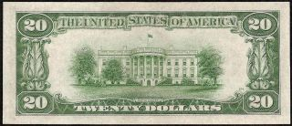 AU 1934 A $20 Dollar Bill Star Federal Reserve Note Paper Currency Fr 2055 E
