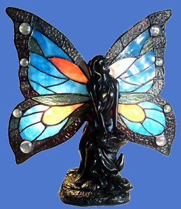 Fairy Accent Table Lamp Night Light Nursery Light Tiffany Style Stained Glass