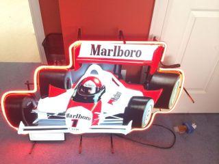 Marlboro Indy Car Neon Sign
