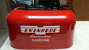 Vintage Johnson Evinrude OMC 6 Gallon 2 Line Pressure Outboard Fuel Gas Tank