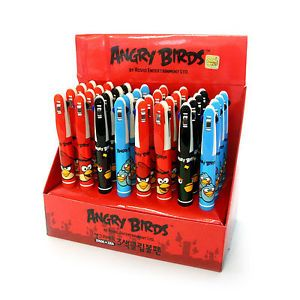 Wholesale Lot 24 Angry Birds Office School Supplies Multi Color Ink Pens