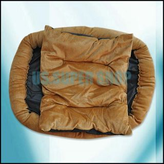 Pet Puppy Dog Cat Soft Warm Bed Kennel Sleeping Bag with Removable Pad Cushion