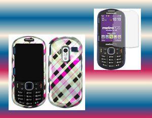 Screen Protector Egpnplaid Straight Talk Samsung SCH R455C Cover Hard Case Skin