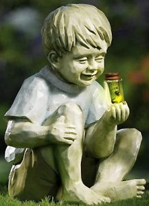 ... New Little Boy W Firefly Jar Garden Statue Outdoor Yard Decor ...