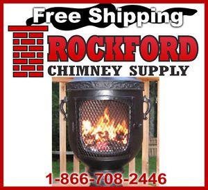 Gas or Wood Burning Chiminea Outdoor Fireplace Venetian Design New