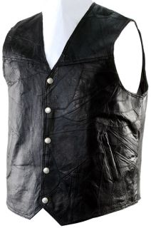 Hawg Hides Genuine Leather Motorcycle Biker Vest 4XL